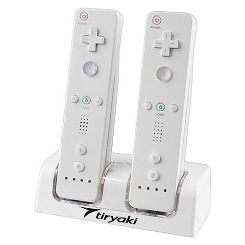 Remote Controller Dual Charging Station With 2 Rechargeable Batteries