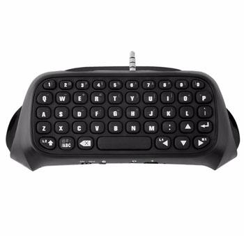 Bluetooth Mini Wireless Chatpad Keyboard PS4 Controller