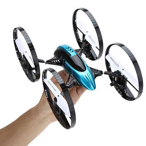 2.4G Gyro Air-ground Amphibious RC Quadcopter Image 1