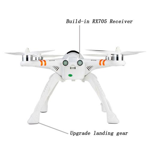DEVO F12E RC Transmitter Auto-Pilot Quadcopter Image 2