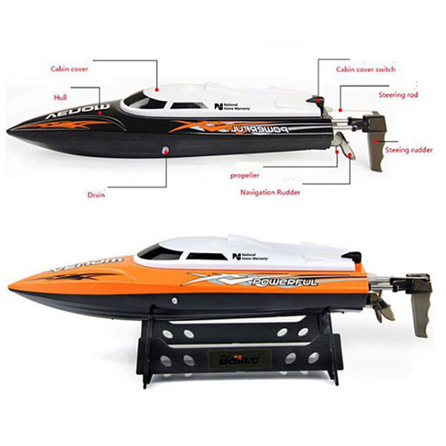 2.4GHz 4CH Water Cooling High Speed RC Boat Image 1
