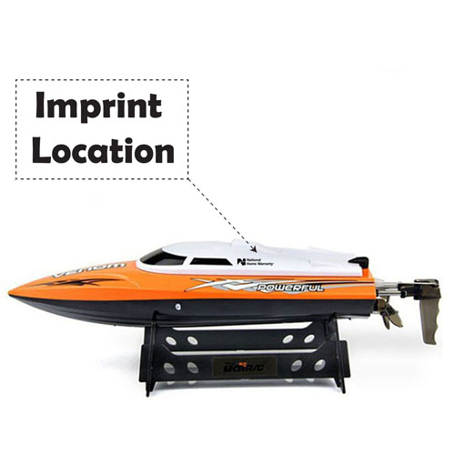 2.4GHz 4CH Water Cooling High Speed RC Boat Imprint Image