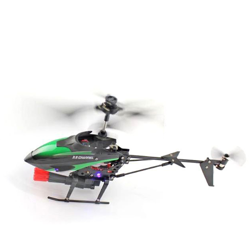 3.5CH Gyro Green Red Remote Control Helicopter