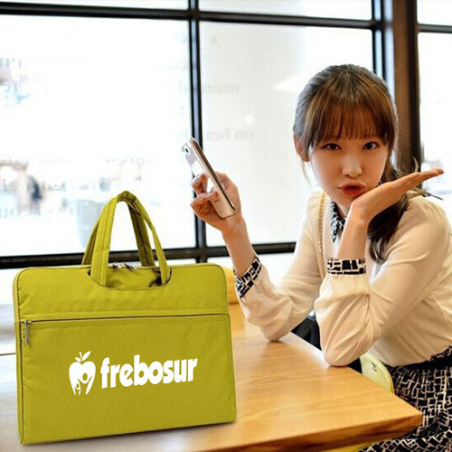 Fashion Nylon Laptop Zipper Briefcase Image 5