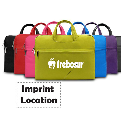 Fashion Nylon Laptop Zipper Briefcase Imprint Image