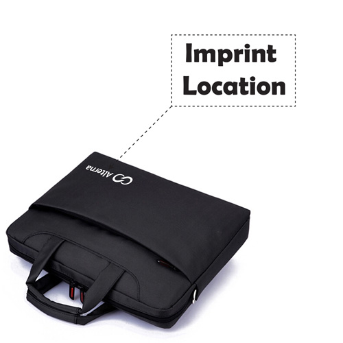 Nylon Waterproof Laptop Shoulder Bag Imprint Image
