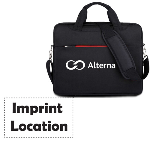 Waterproof Laptop Shoulder Briefcase Imprint Image
