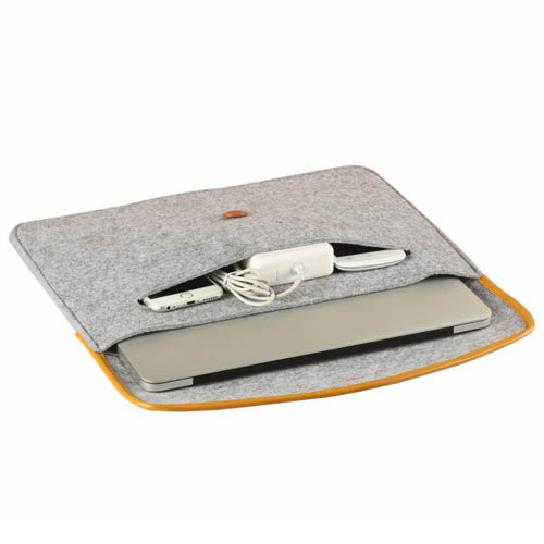 Durable Felt Laptop Sleeve Image 4