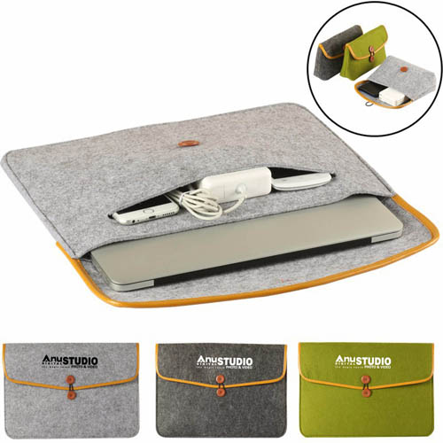 Durable Felt Laptop Sleeve Image 5