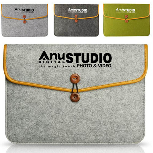 Durable Felt Laptop Sleeve Image 6