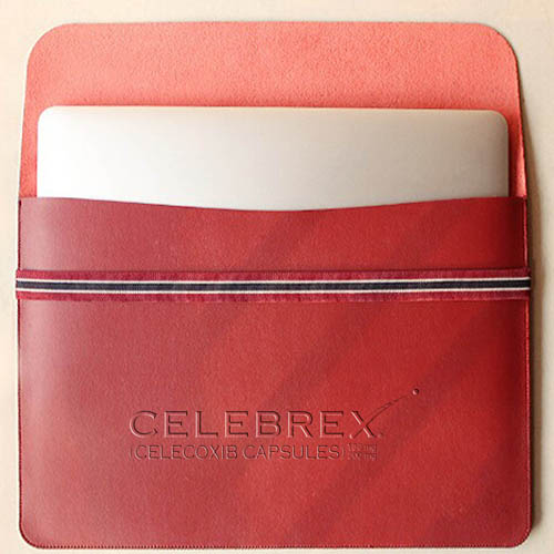 Leather Laptop Sleeve With Elastic Closure Image 1