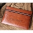 Leather Laptop Sleeve With Elastic Closure Image 2