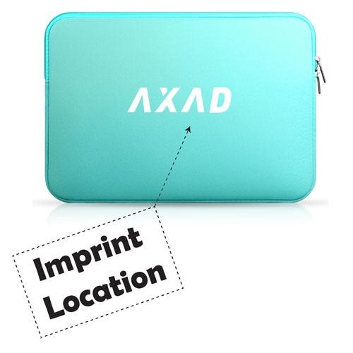 Neoprene Laptop Double Zipper Sleeve Imprint Image