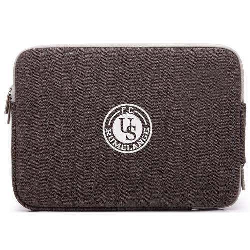 Double Zipper Canvas Laptop Sleeve