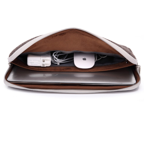 Double Zipper Canvas Laptop Sleeve Image 3