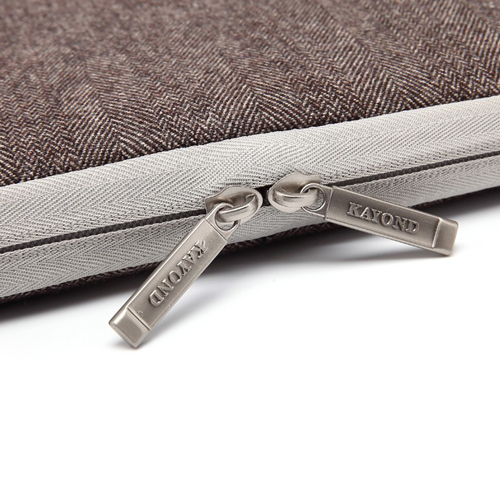 Double Zipper Canvas Laptop Sleeve Image 4