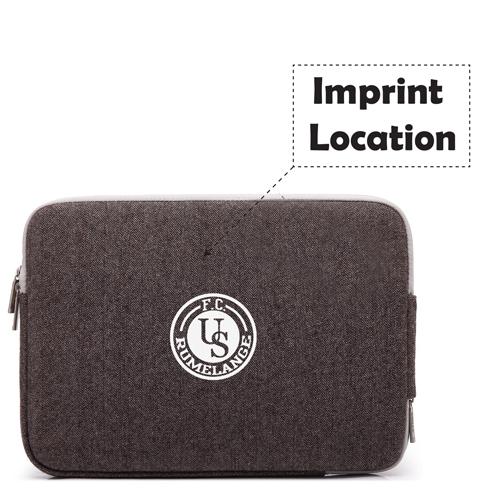 Double Zipper Canvas Laptop Sleeve Imprint Image