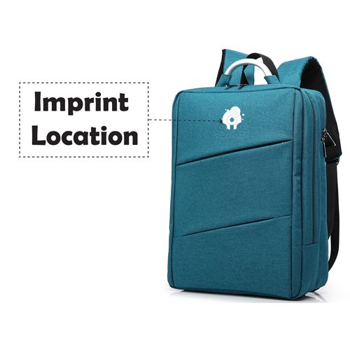 New Style Nylon Travel Laptop Backpack Imprint Image