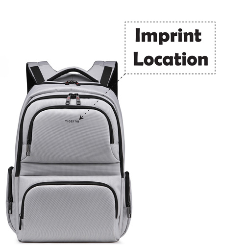 Waterproof 3 Compartment Laptop Backpack Imprint Image