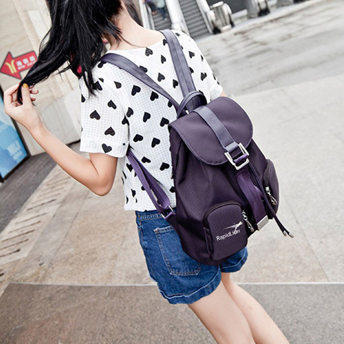 Waterproof Solid Womens Rucksack Bag