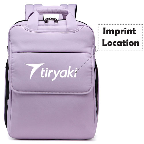 Multifunction Waterproof Unisex Laptop Backpack Imprint Image