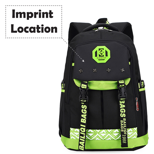 New Mochilas Meninos Double Shoulder Schoolbag Imprint Image