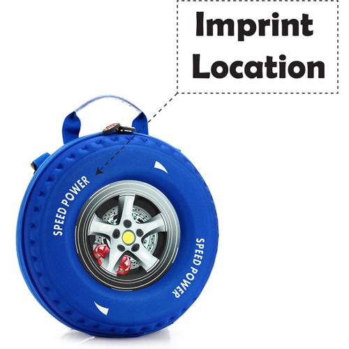 3D Creative Mini Wheel Shaped Bag Imprint Image
