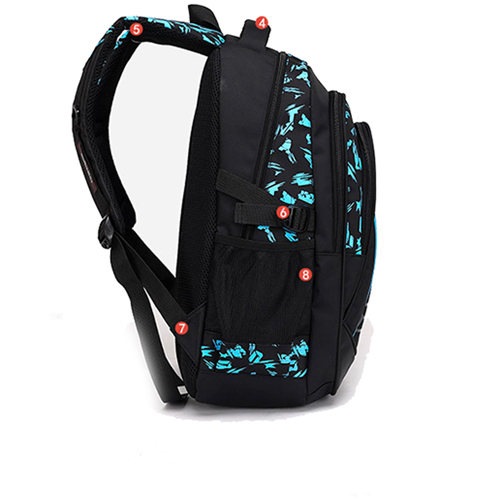 New Mochila Children Zipper Nylon Backpack Image 5