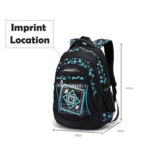 New Mochila Children Zipper Nylon Backpack Imprint Image