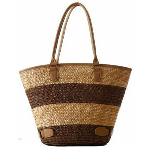 Women Striped Durable Tote Beach Bag