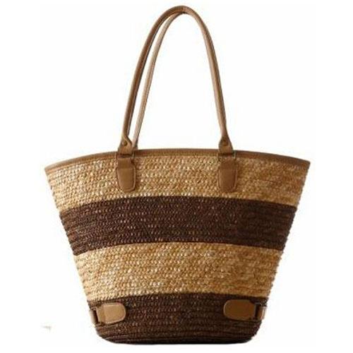 Women Striped Durable Tote Beach Bag