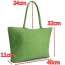 Woven Shoulder Tote Beach Bag Image 1