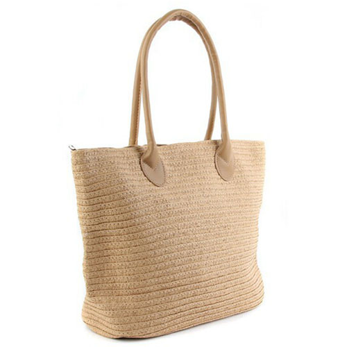 Woven One Shoulder Casual Beach Bags Image 1