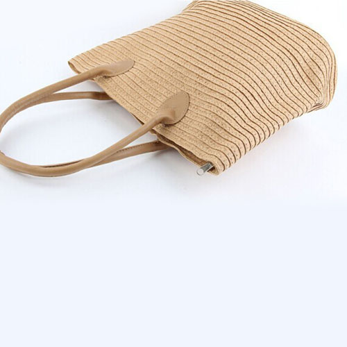 Woven One Shoulder Casual Beach Bags Image 4