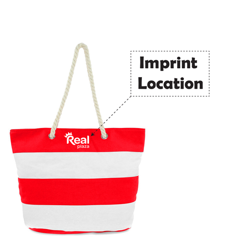 Ladies Leaves Canvas Beach Bags Imprint Image