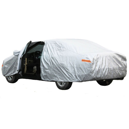 Silver Car Universal Four Seasons Car Cover Image 2