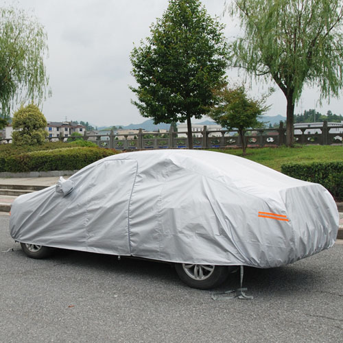 Silver Car Universal Four Seasons Car Cover Image 3