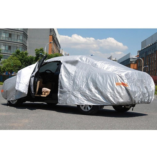 Silver Car Universal Four Seasons Car Cover Image 5
