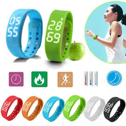 LED Digital USB Sports Wrist Watch