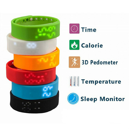 LED Digital USB Sports Wrist Watch Image 4