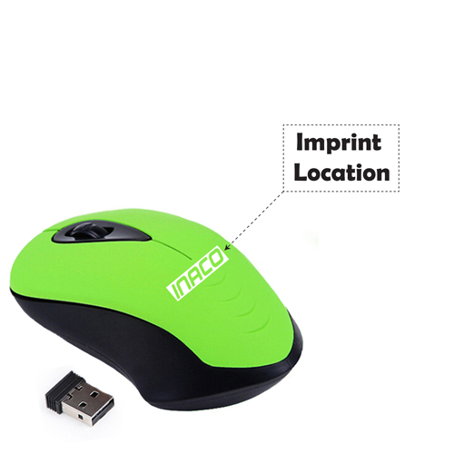 2.4G USB Receiver Wireless Computer Mouse Mice Imprint Image