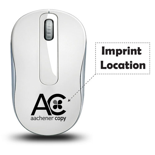 2.4GHz Wireless Optical Mouse With Nano Receiver Imprint Image